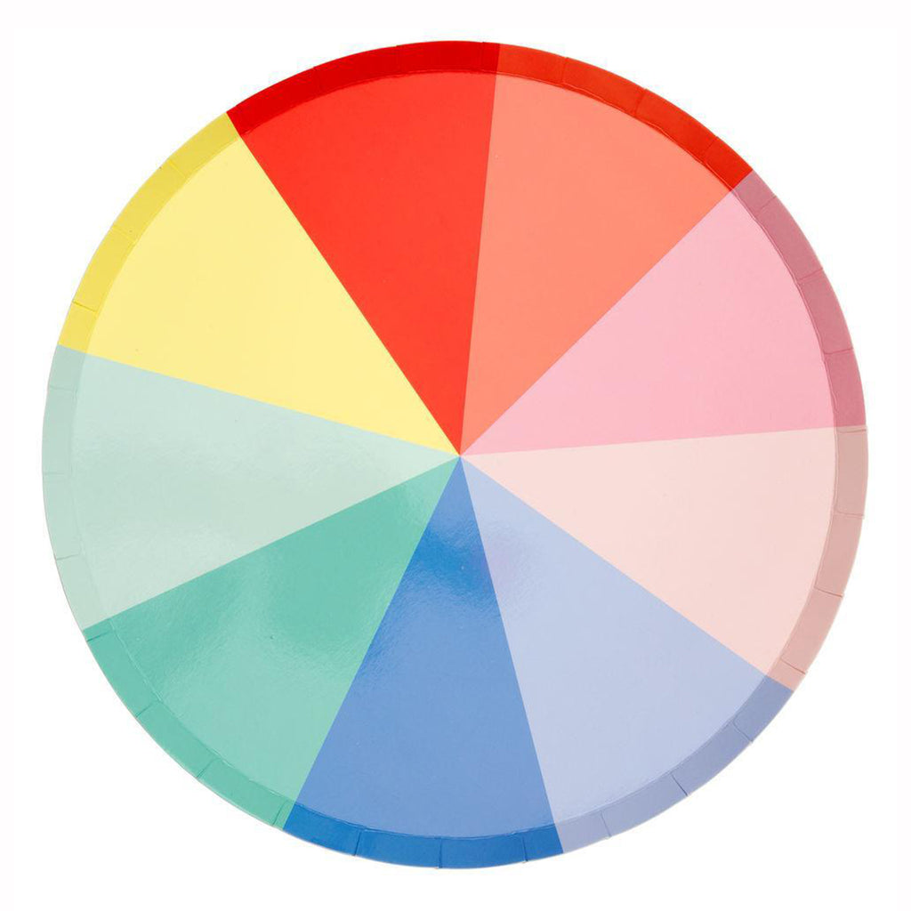 color wheel large party plate