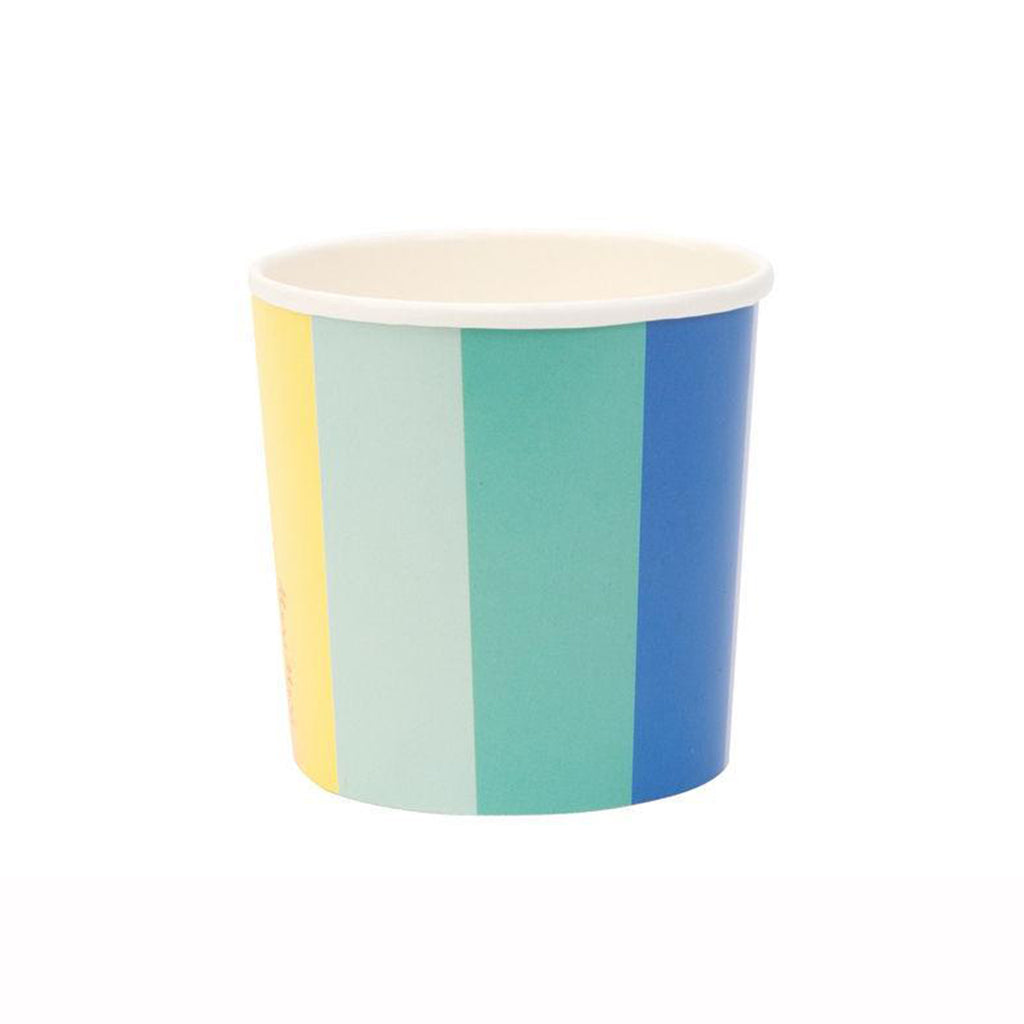 color wheel tumbler party cup