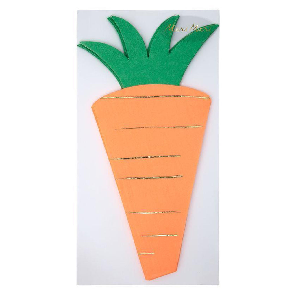carrot shaped napkin package