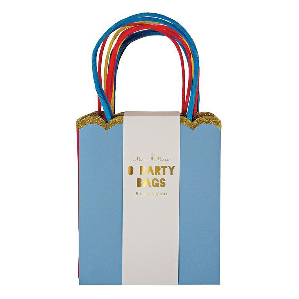 multicolored party bag packaged