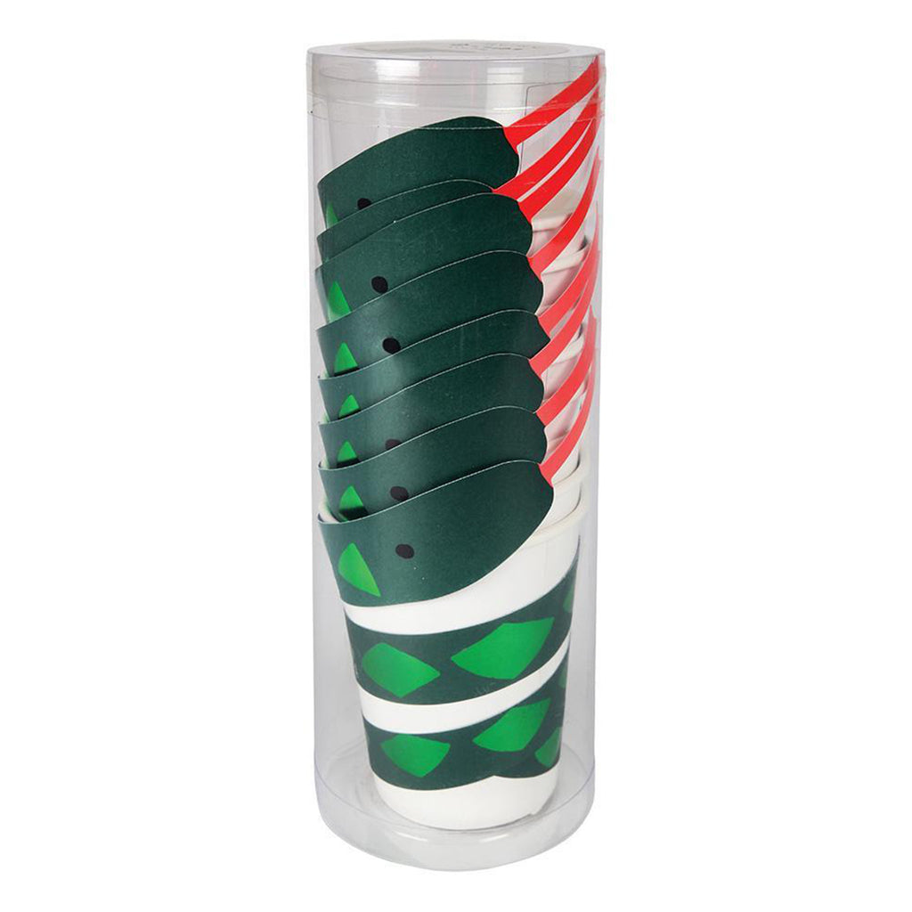 snake party cup stack