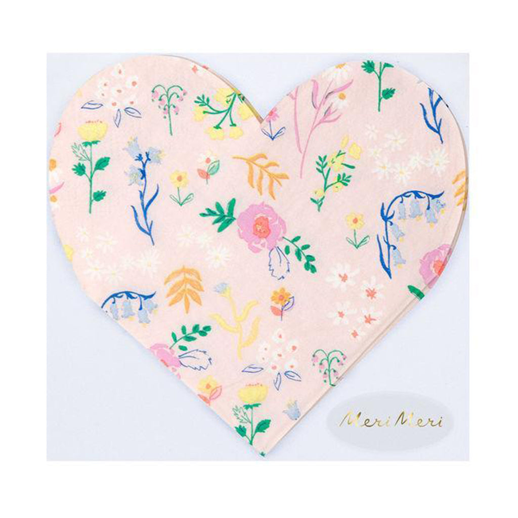 pink floral heart shaped napkinsmeri meri wildflower pink floral heart shaped napkins in packaging