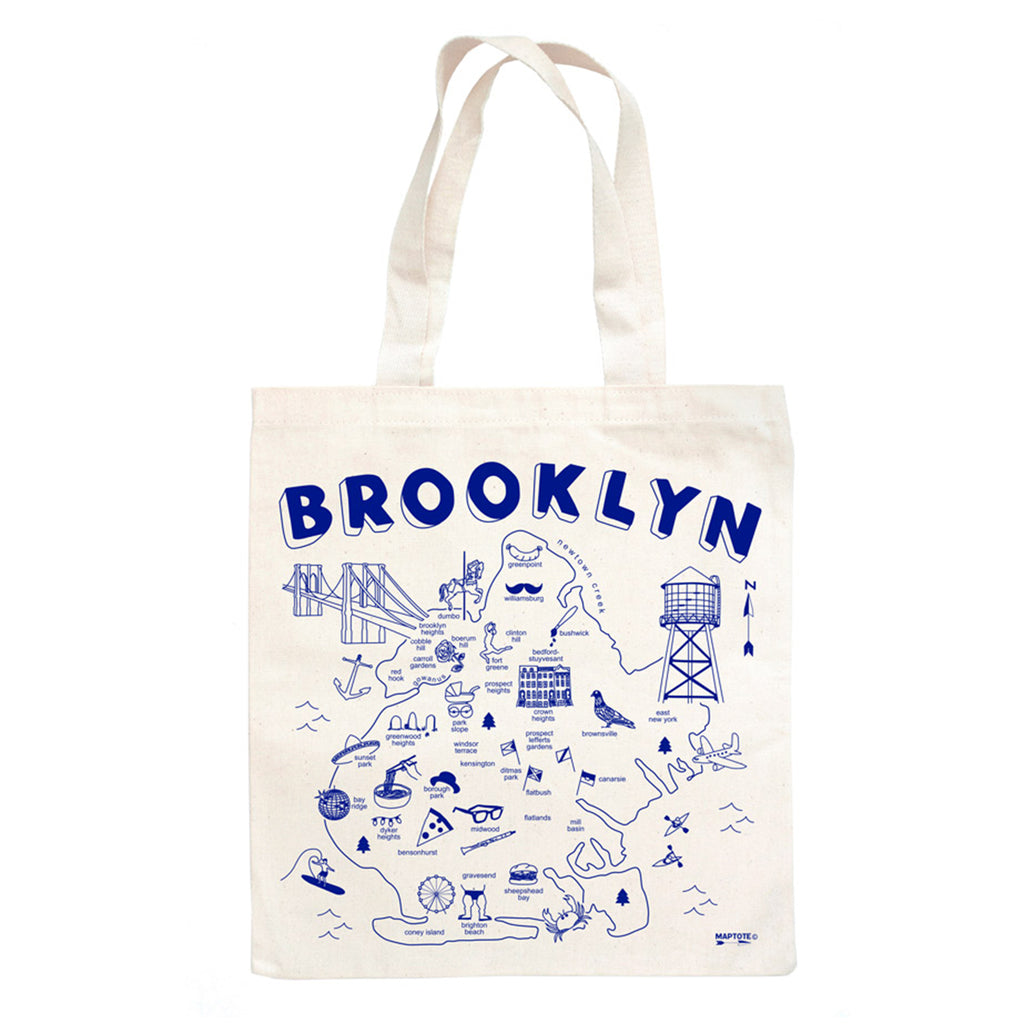 maptote brooklyn natural canvas grocery tote