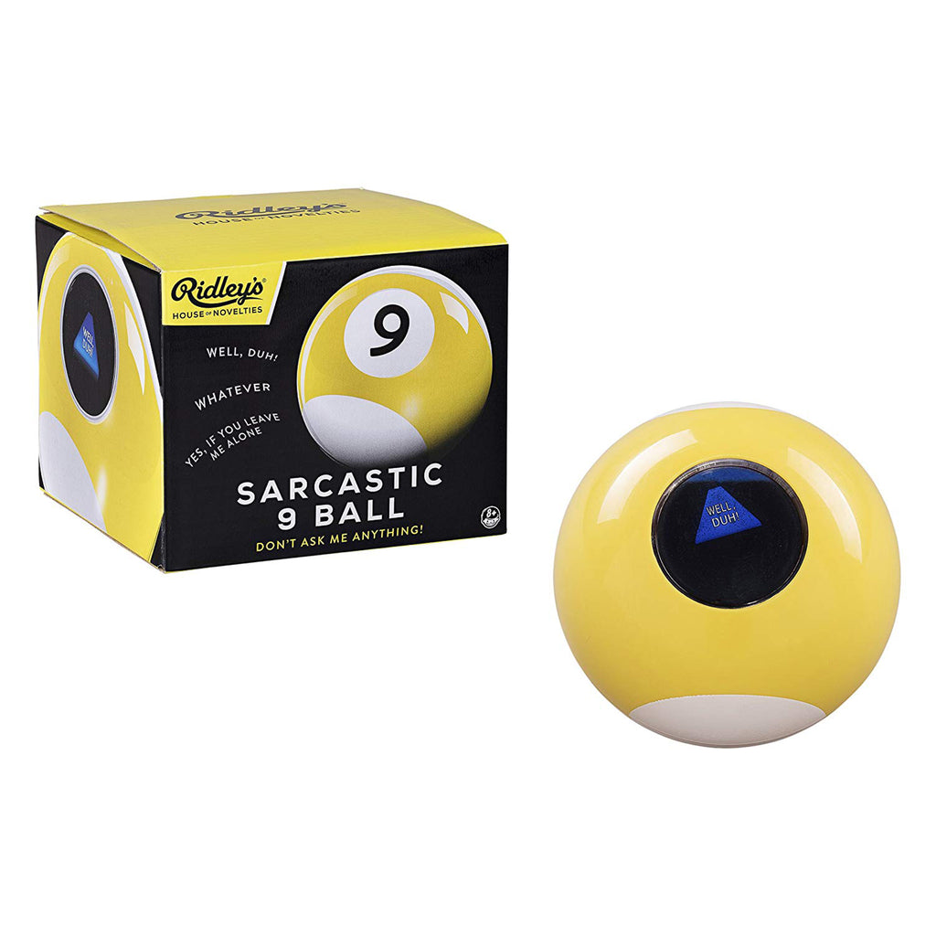 yellow sarcastic 9 ball