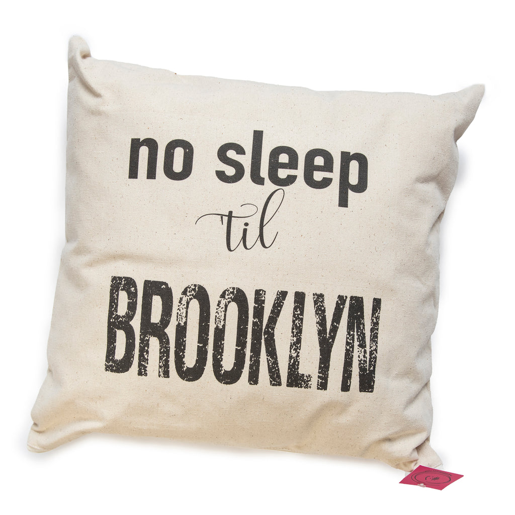 no sleep til brooklyn pillow