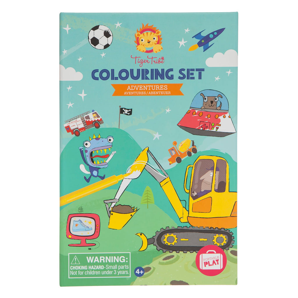 Tiger Tribe Colouring Set Adventures Set