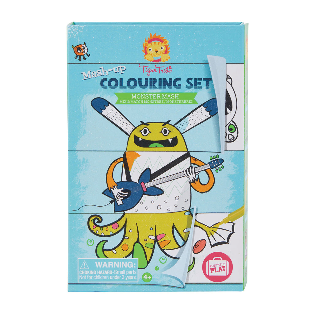 Schylling Tiger Tribe Mash Up Coloring Set Mix and Match Monster Mash in packaging