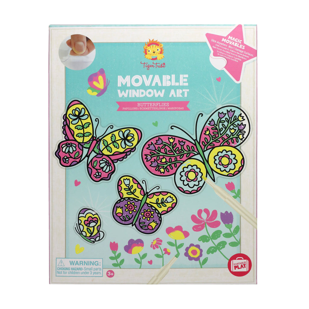 Schylling Tiger Tribe Movable Window Art Kit Butterflies front of packaging