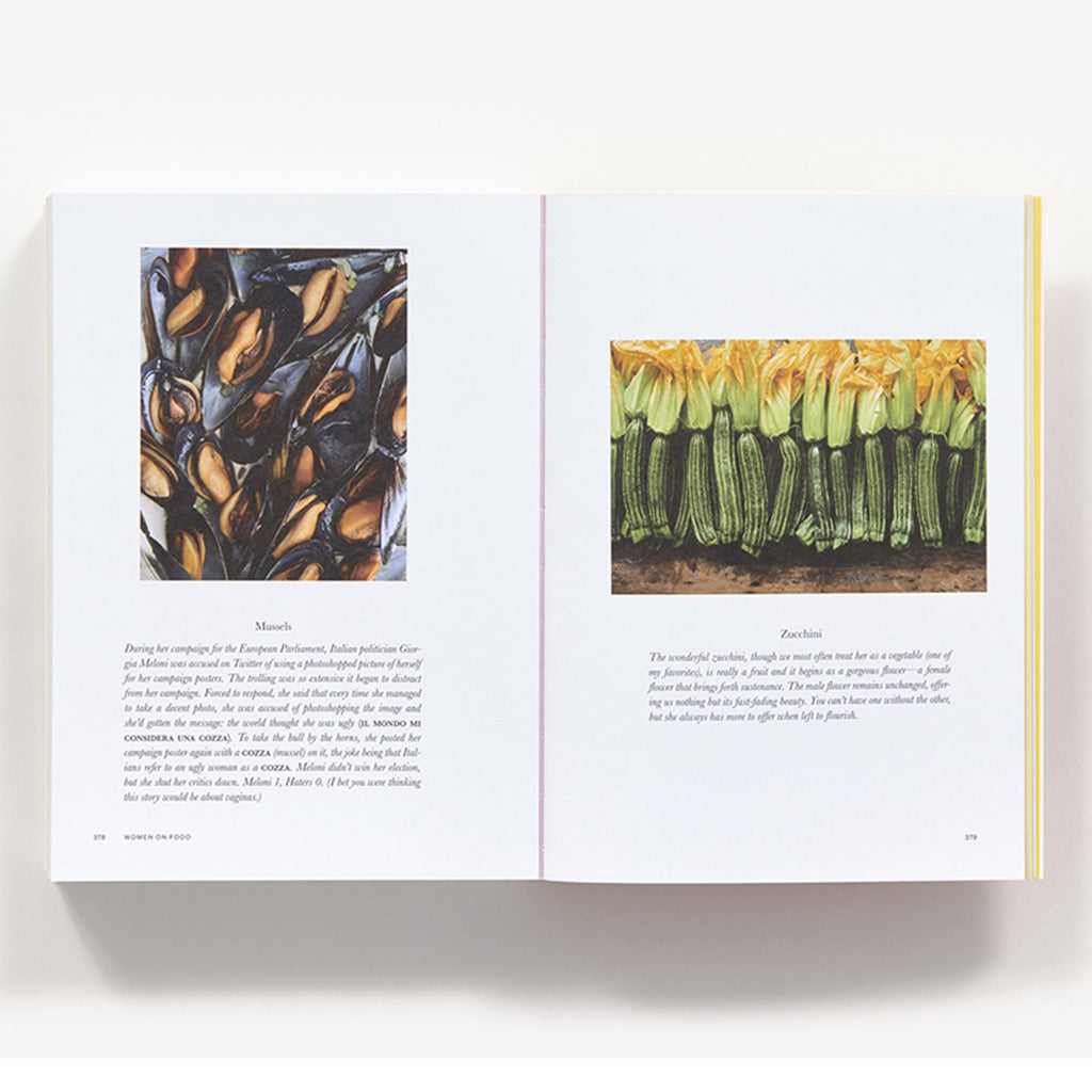 abrams women on food book mussels and zucchini sample pages