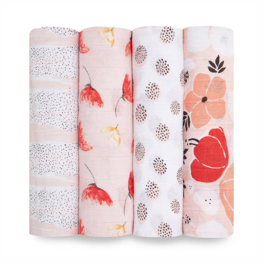 aden + anais classic cotton muslin baby swaddle blanket 4 pack picked for you