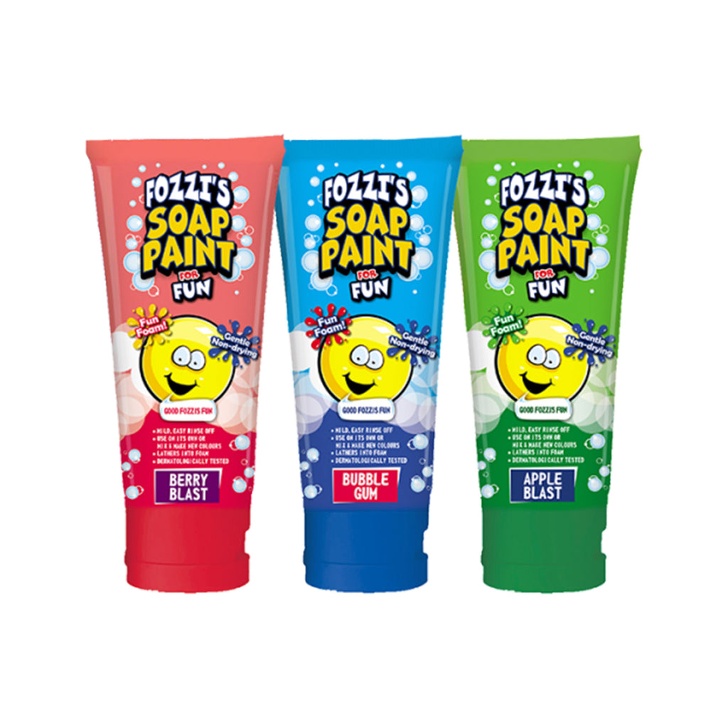 fozzi's colorful scented soap paint for fun set of three tubes