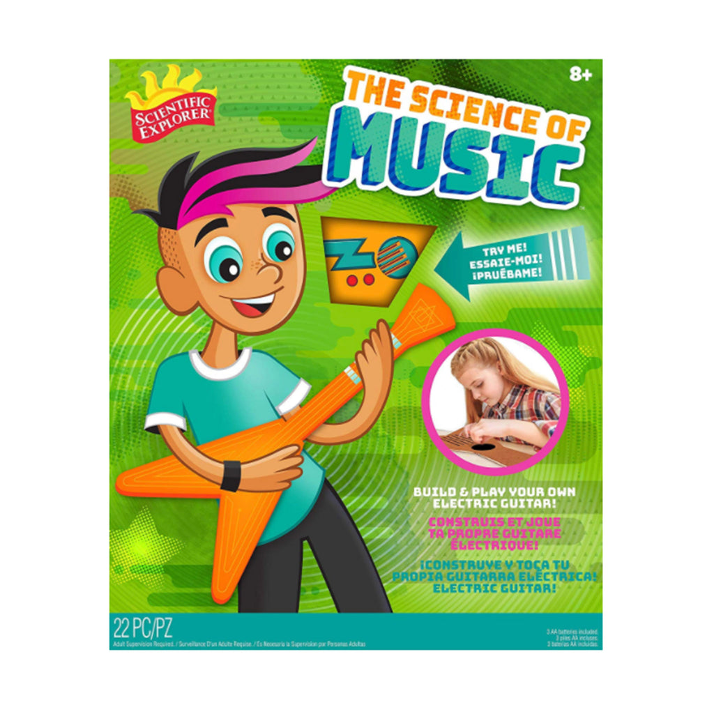 alex brands scientific explorer the science of music cardboard guitar kids diy kit box front