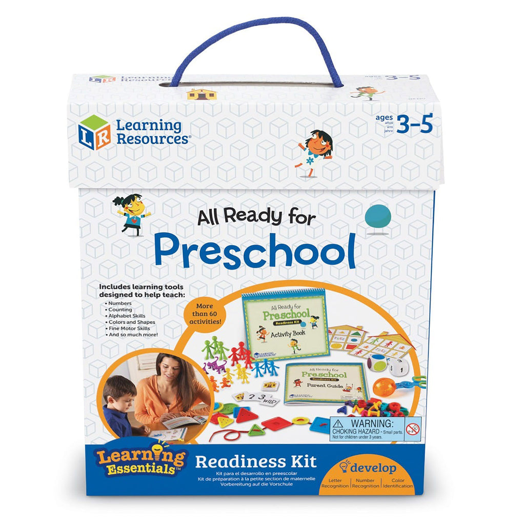 learning resources all ready for preschool readiness kit in packaging