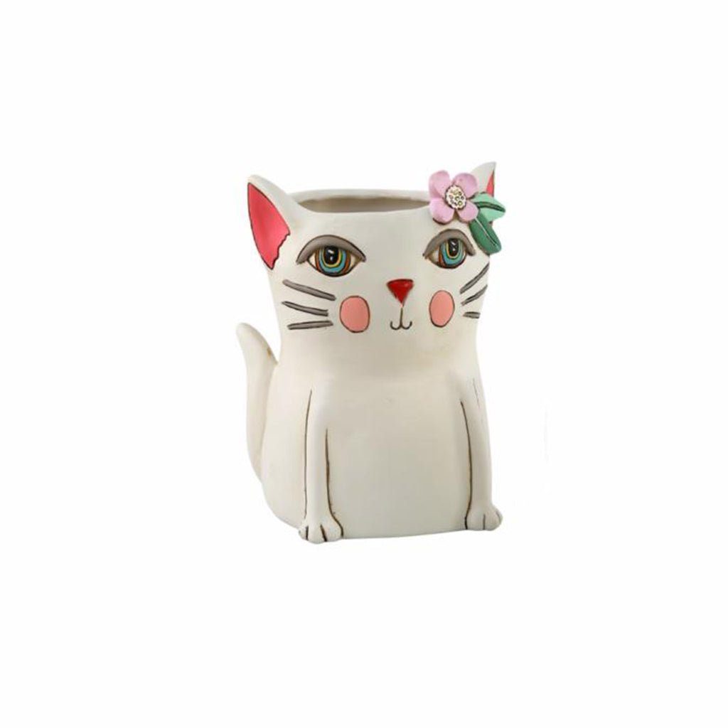allen designs baby pretty kitty indoor decorative planter vase