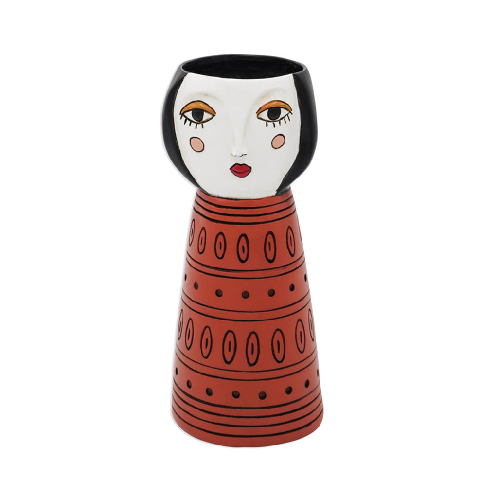allen designs lady orange indoor decorative vase planter
