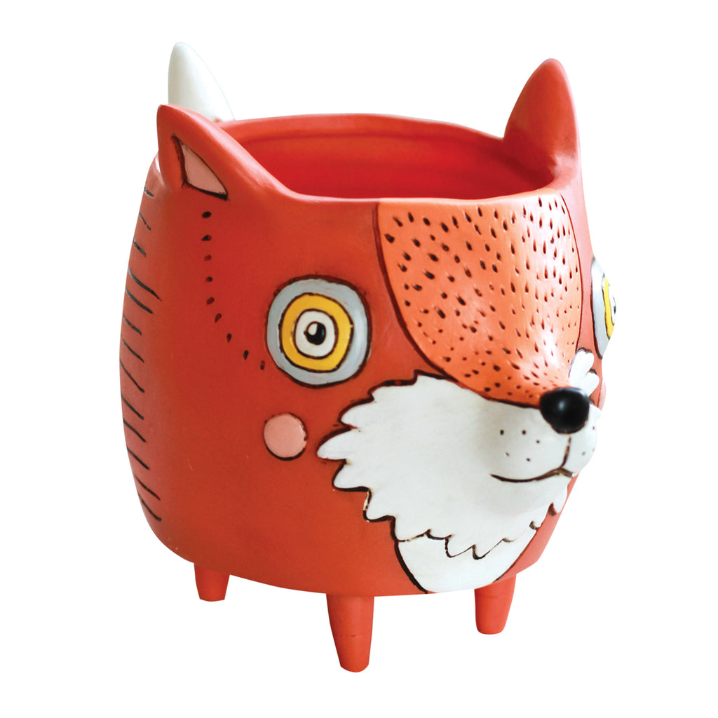 allen designs studio foxy fox indoor fun unique decorative planter