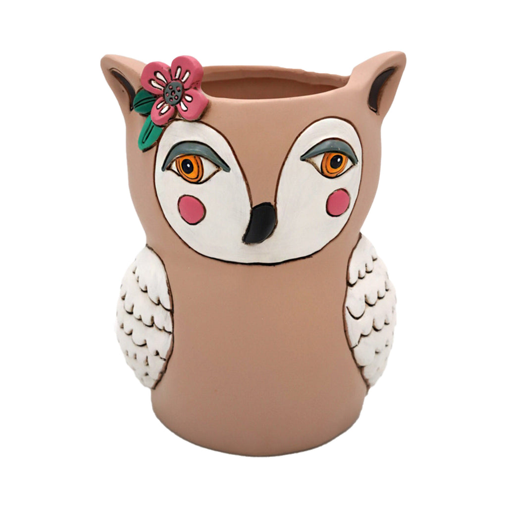 allen designs sweet owl indoor decorative planter