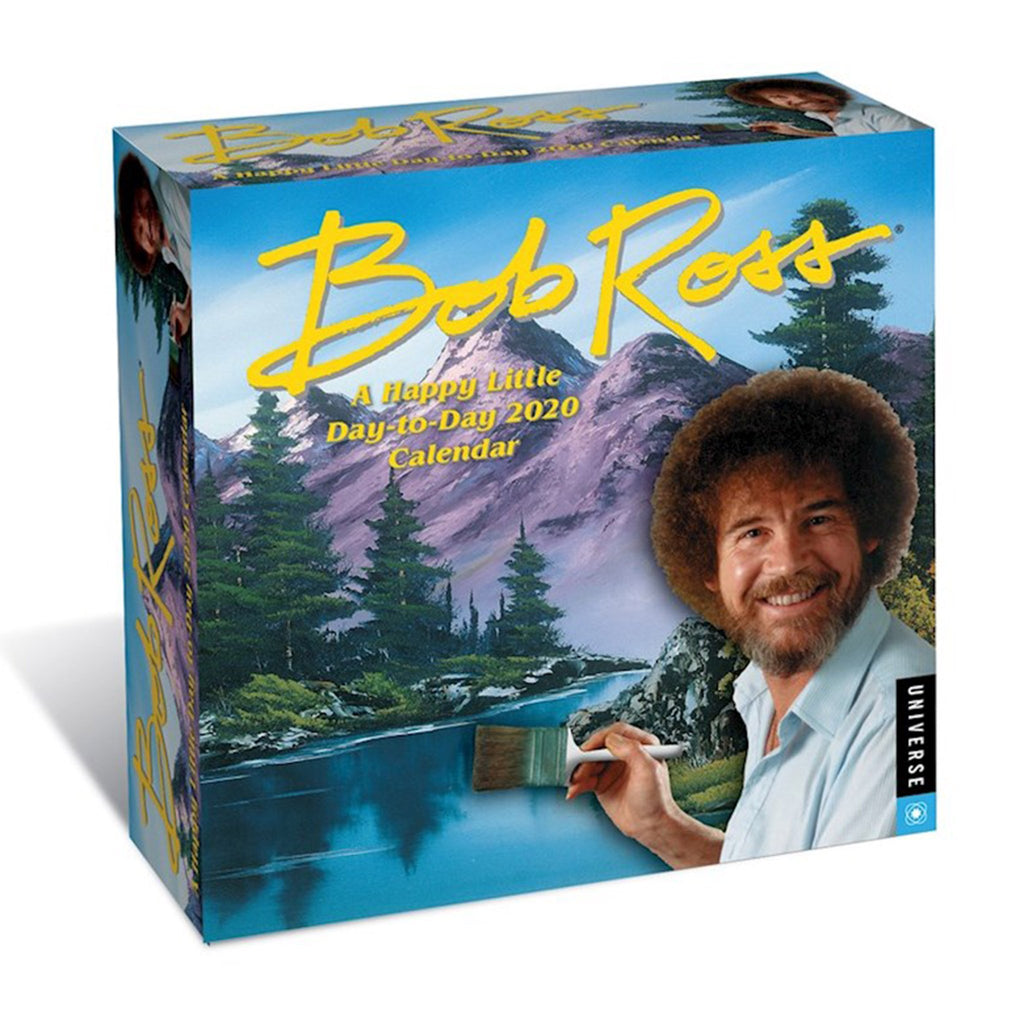 andrews mcmeel 2020 bob ross a happy little day to day desk calendar box cover
