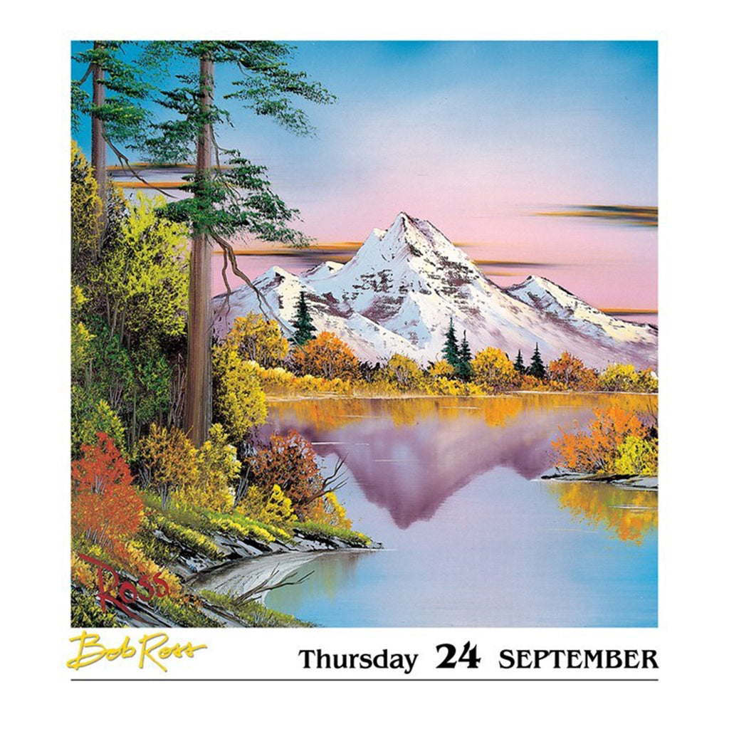 andrews mcmeel 2020 bob ross a happy little day to day desk calendar september page