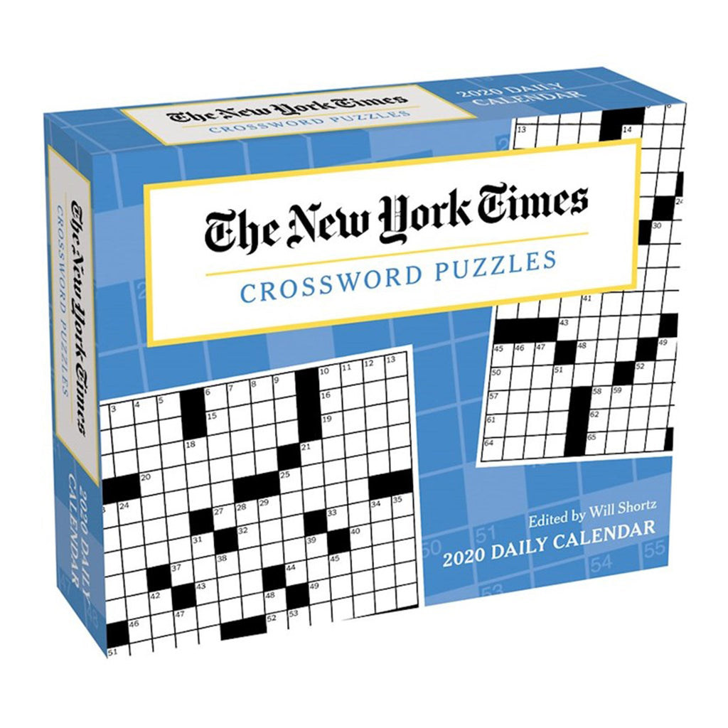 andrews mcmeel 2020 the new york times crossword puzzles daily calendar box cover