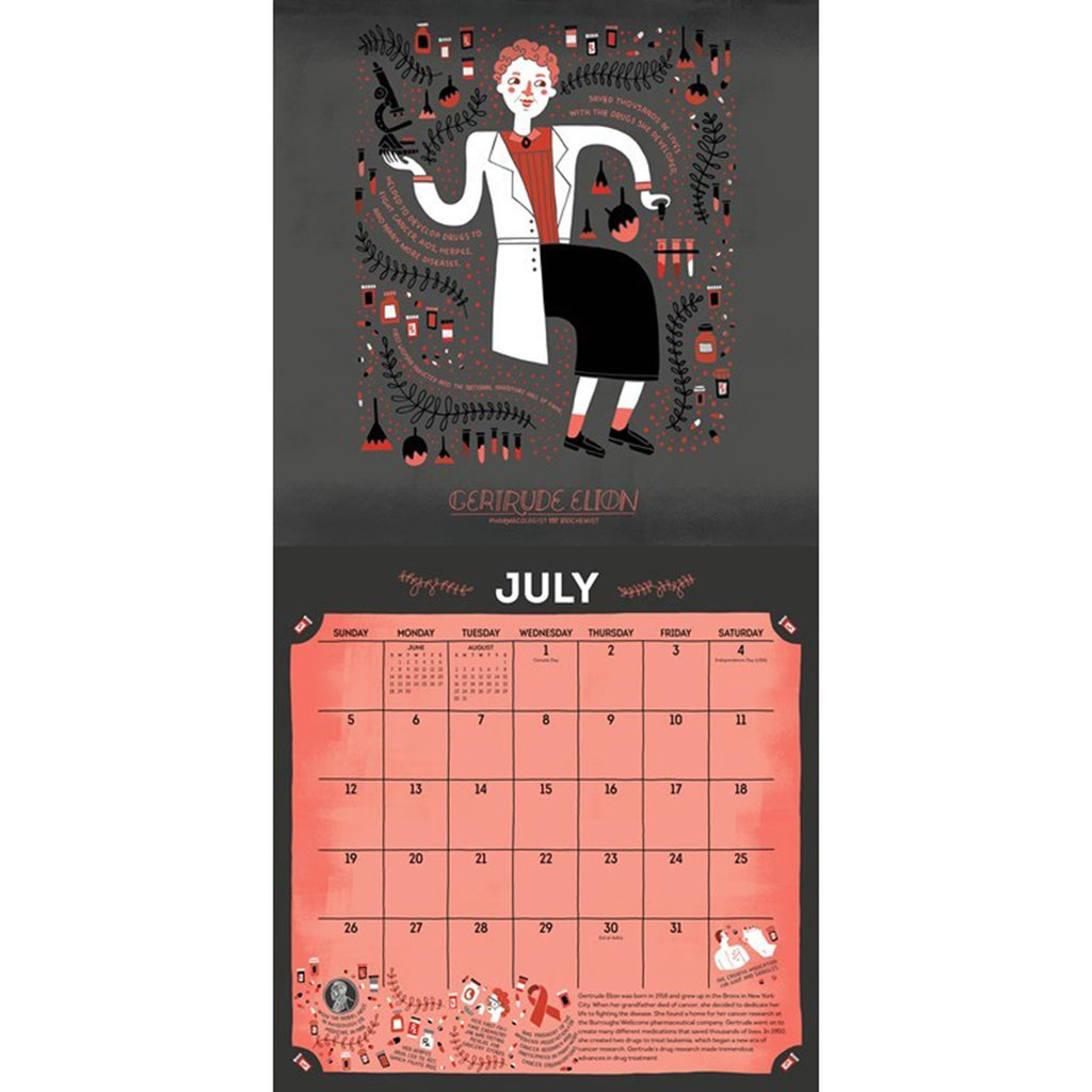 andrews mcmeel 2020 women in science monthly wall calendar july