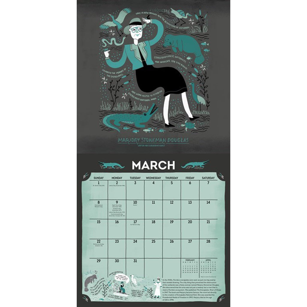 andrews mcmeel 2020 women in science monthly wall calendar march