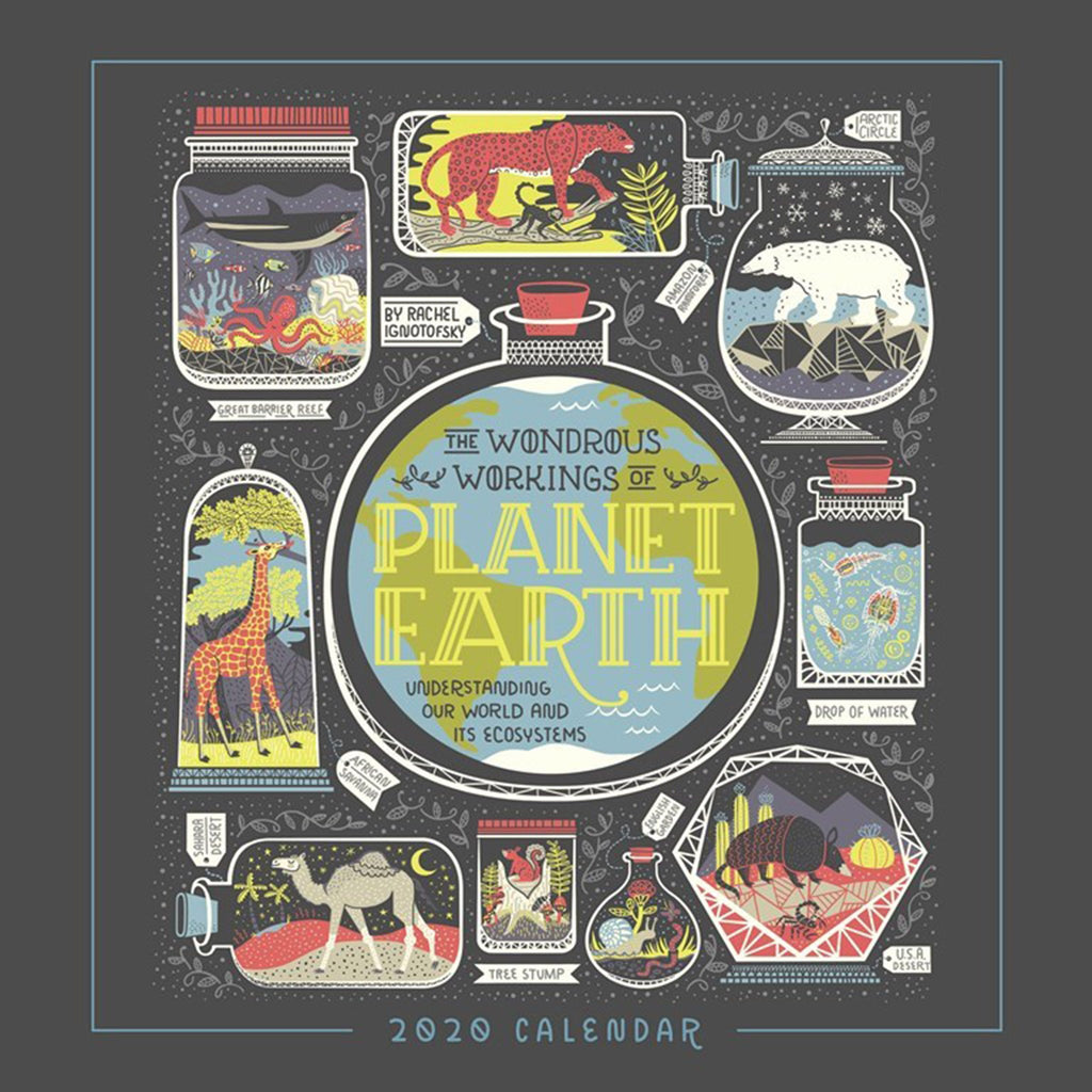 2020 the wondrous workings of planet earth monthly wall calendar cover