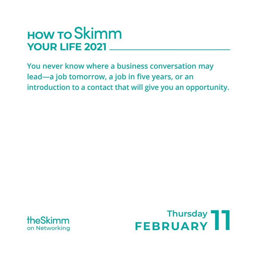 andrews mcmeel 2021 how to skimm your life day to day calendar february 11 sample page