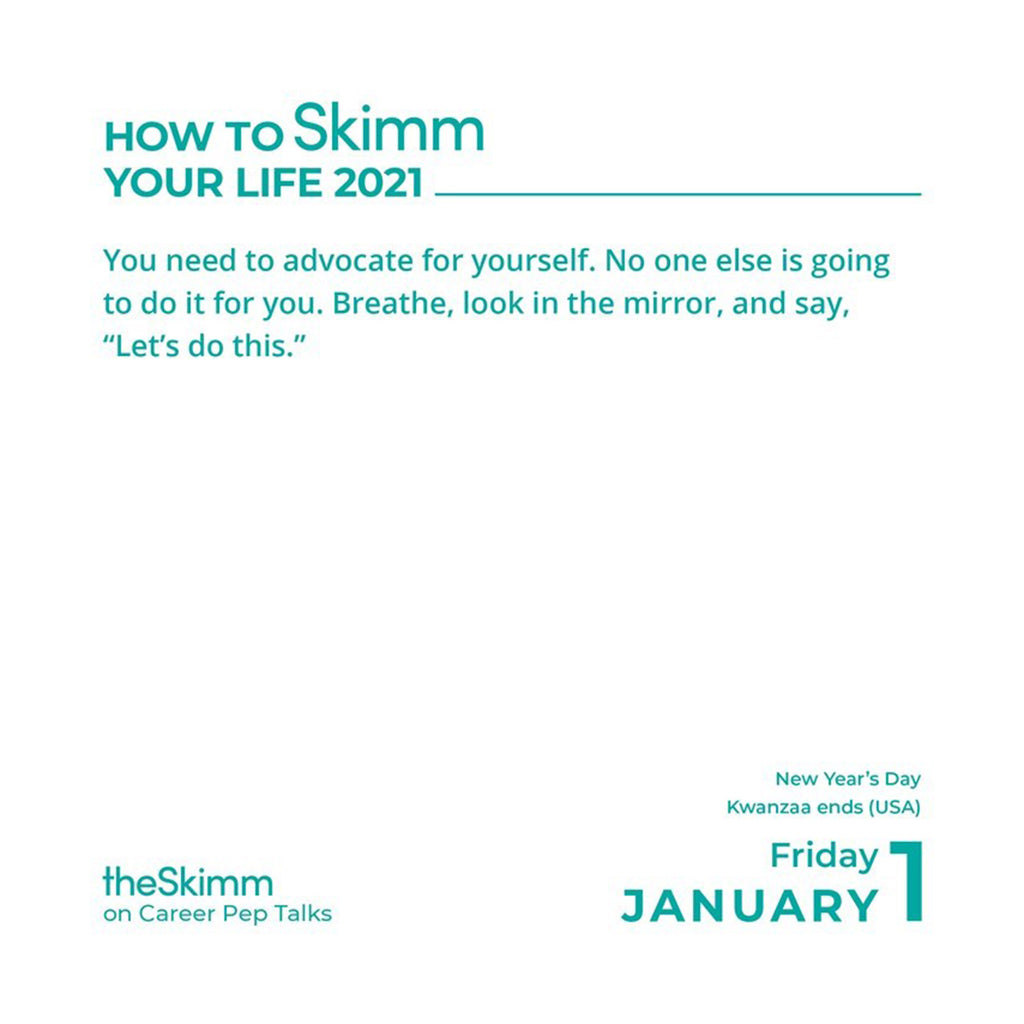 andrews mcmeel 2021 how to skimm your life day to day calendar january 1 sample page