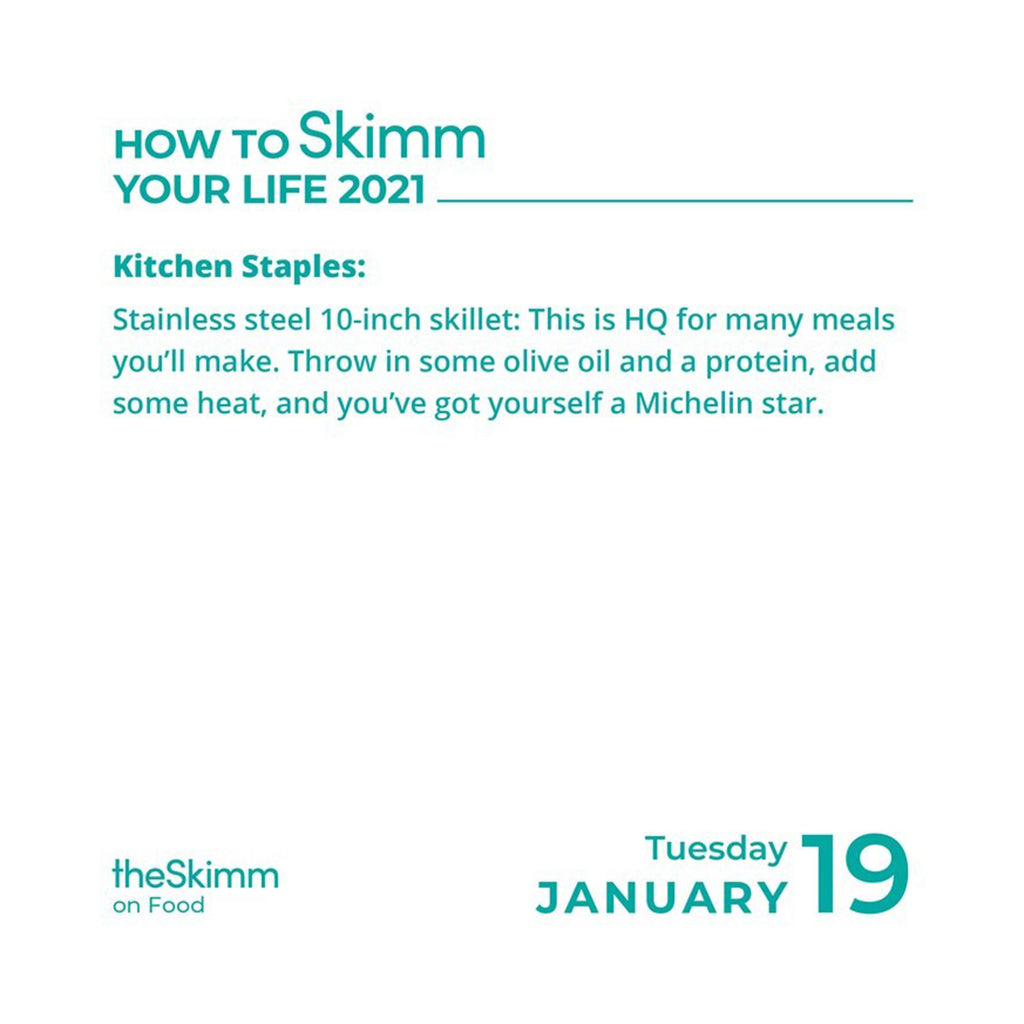 andrews mcmeel 2021 how to skimm your life day to day calendar january 19 sample page