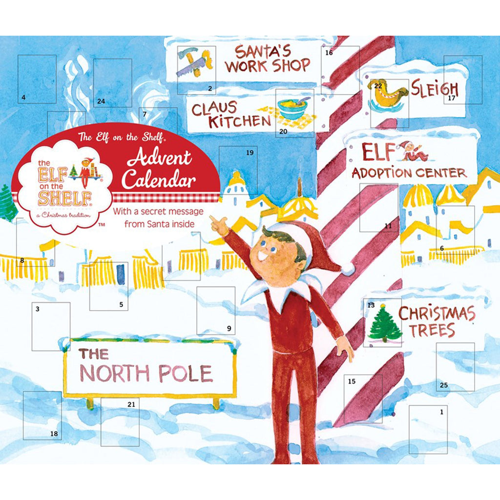 andrews mcmeel 2019 elf on the shelf advent calendar front cover
