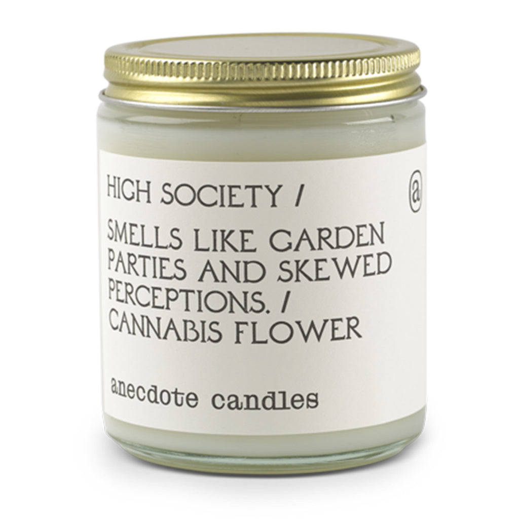 anecdote high society scented coconut soy wax candle