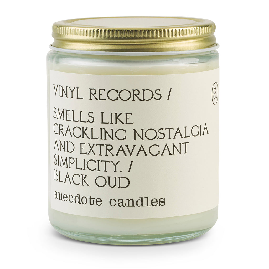 anecdote vinyl records scented coconut soy wax candle