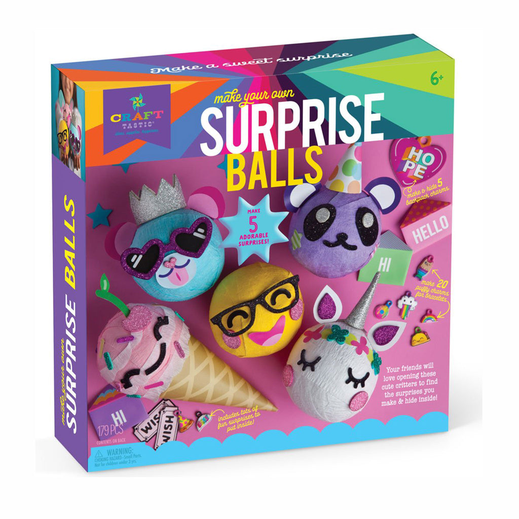 ann williams craft-tastic surprise balls diy kids craft kit box front