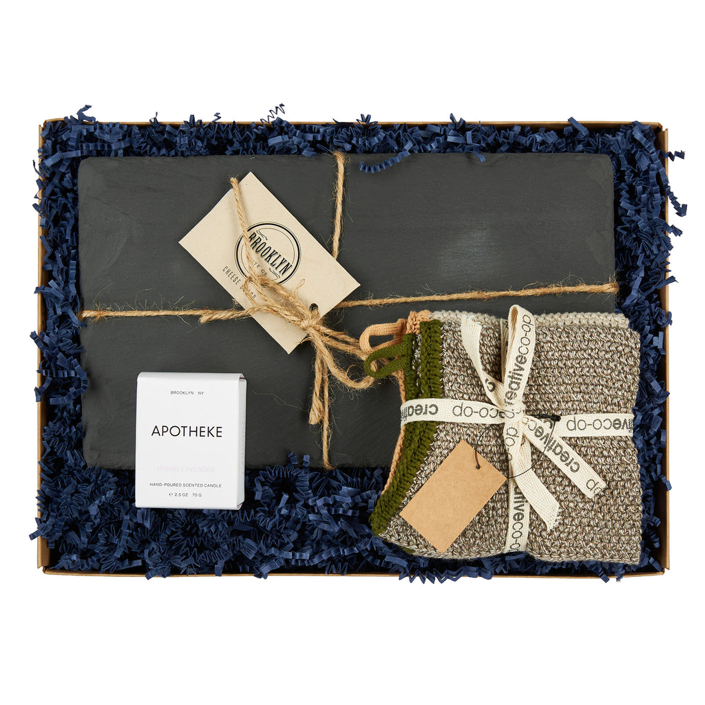 annies blue ribbon general store housewarming gift box set in packaging
