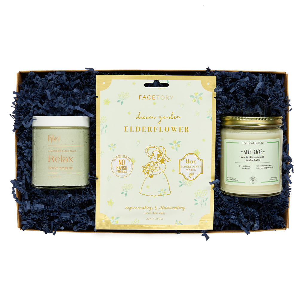 annies blue ribbon general store wellness self care gift box set in packaging
