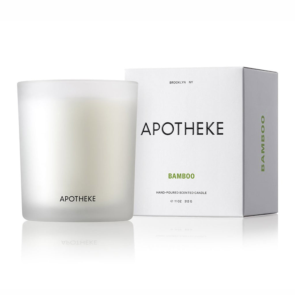 apotheke bamboo scented soy candle with box