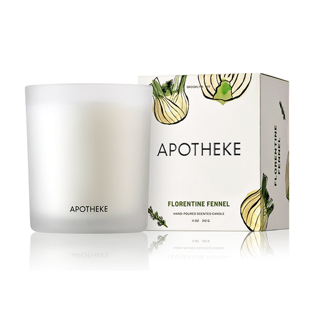 apotheke florentine fennel market collection scented soy candle with box