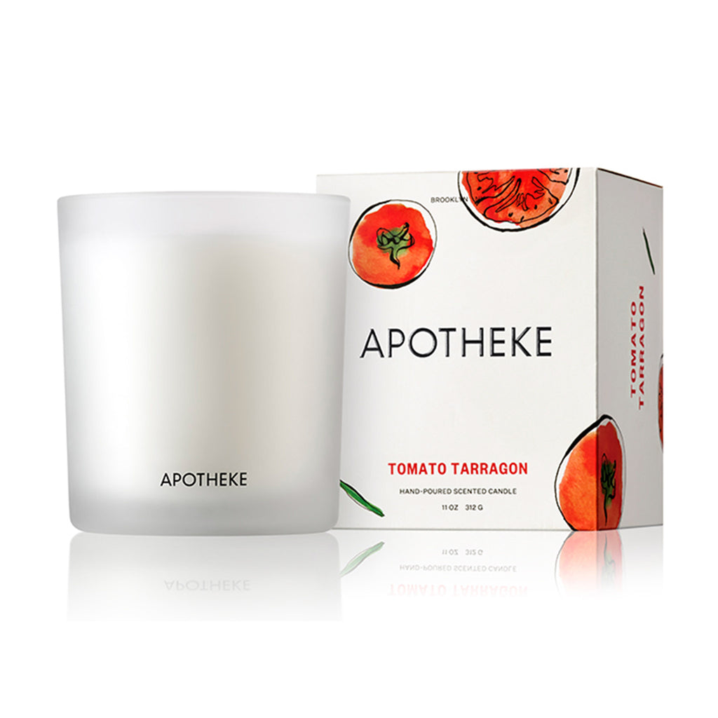 apotheke tomato tarragon market collection scented soy candle with gift box
