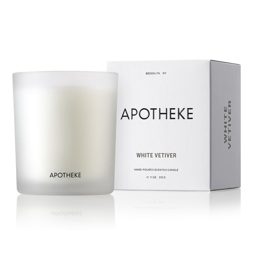 apotheke white vetiver candle