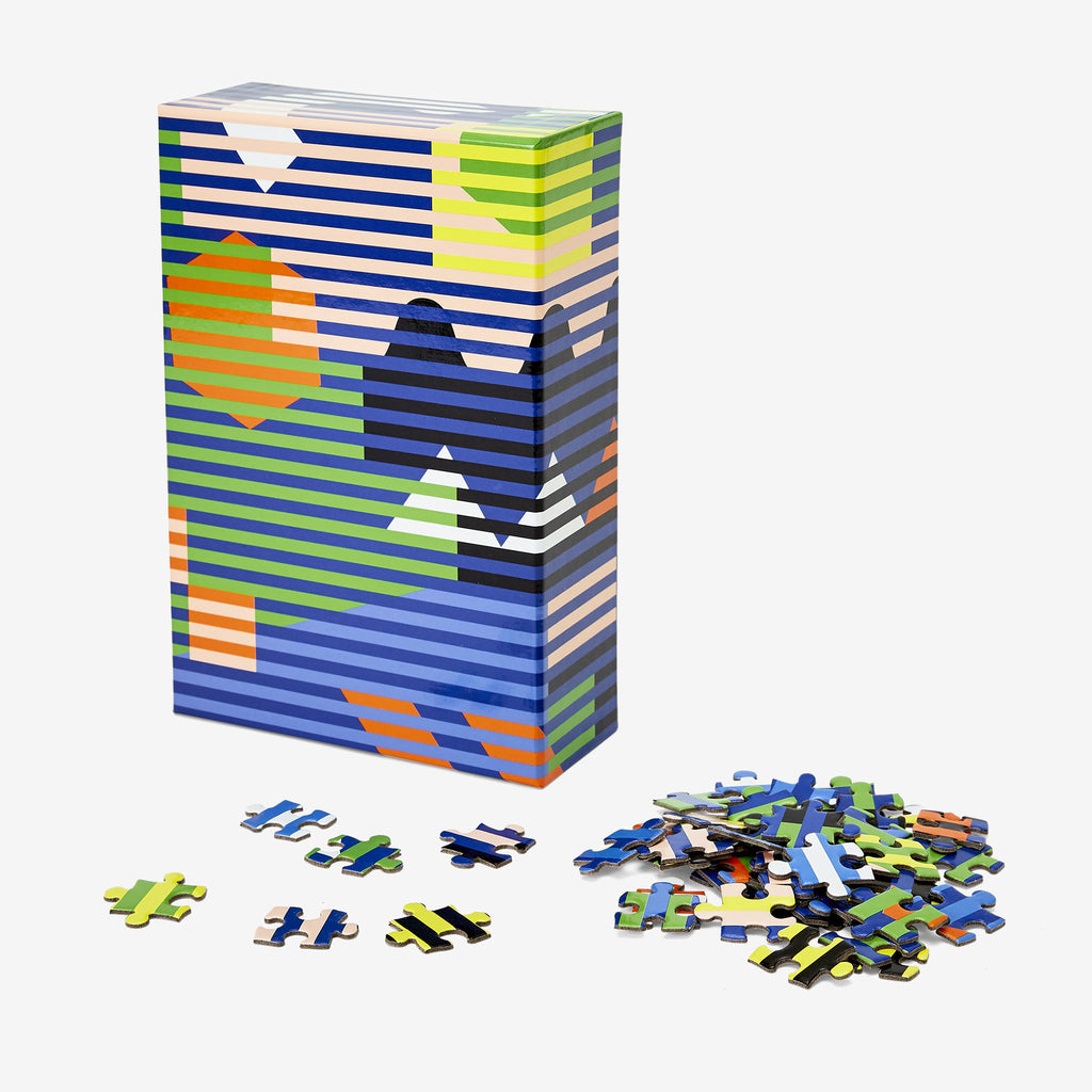 dusen dusen lenticular jigsaw puzzle box and pieces