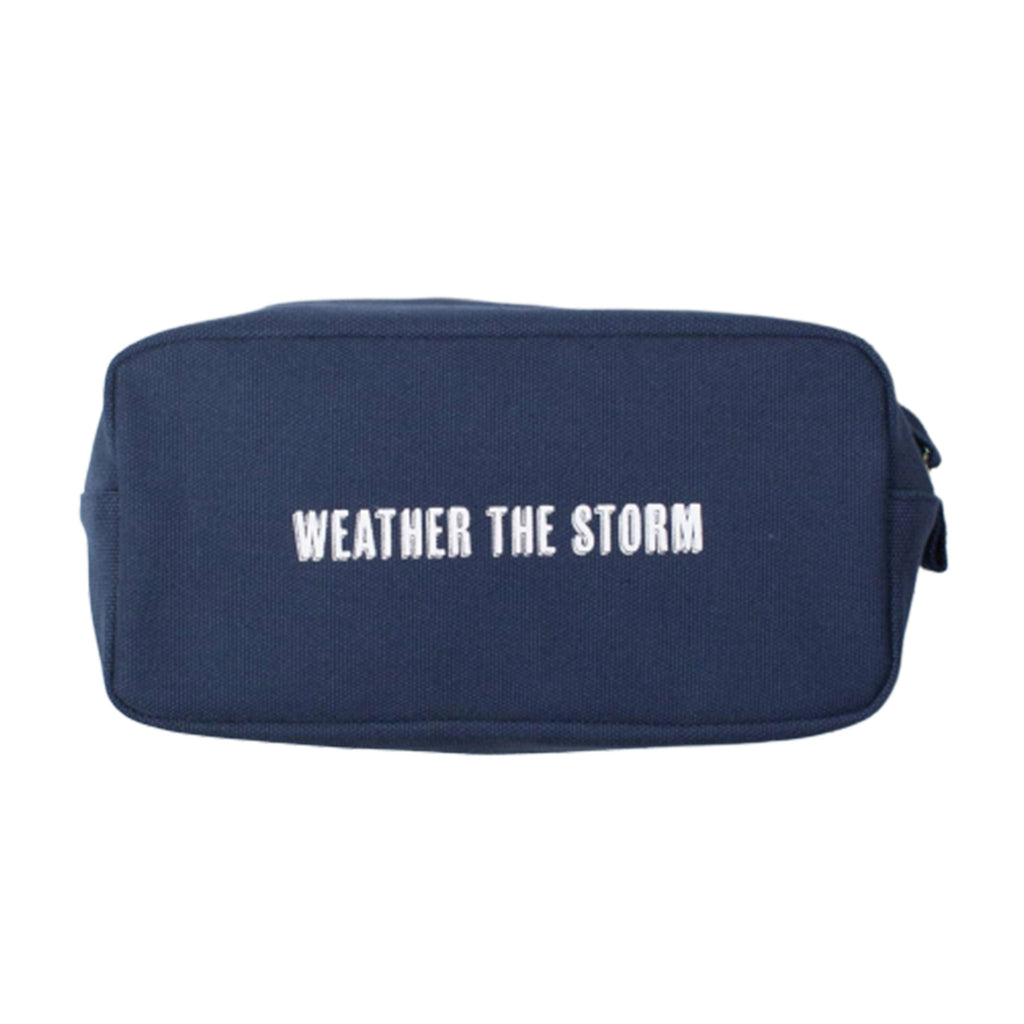 atlantic folk izola weather the storm heavy cotton canvas dopp kit travel bag front view