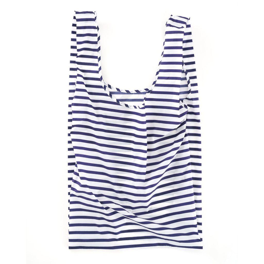baggu big ripstop nylon reusable shopping bag sailor stripe open