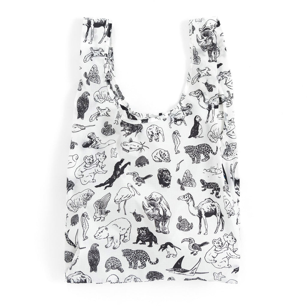 baggu standard ripstop nylon reusable shopping bag zoo open