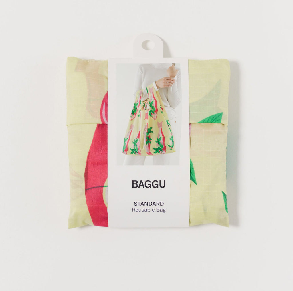 baggu reusable standard ripstop nylon bag in whole fish with packaging