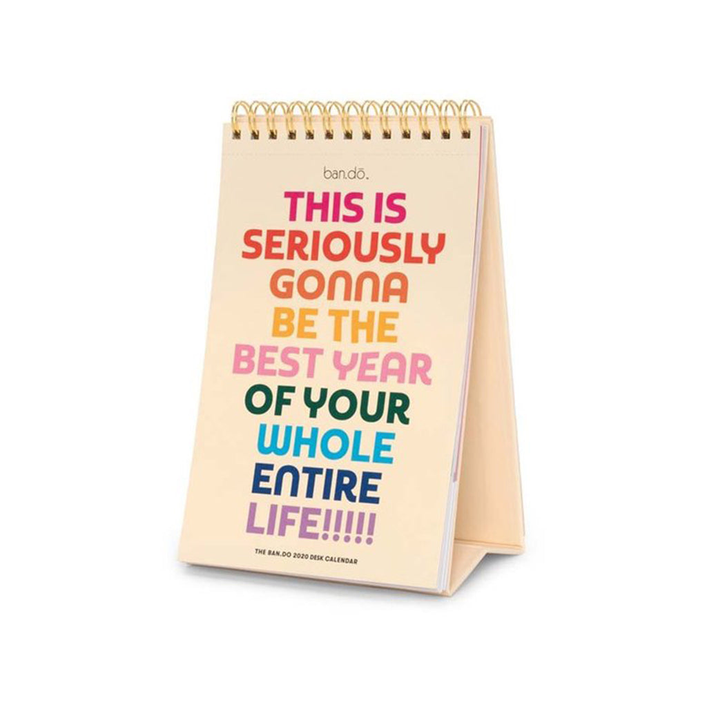ban.do 2020 best year ever rainbow 12 month desk calendar cover