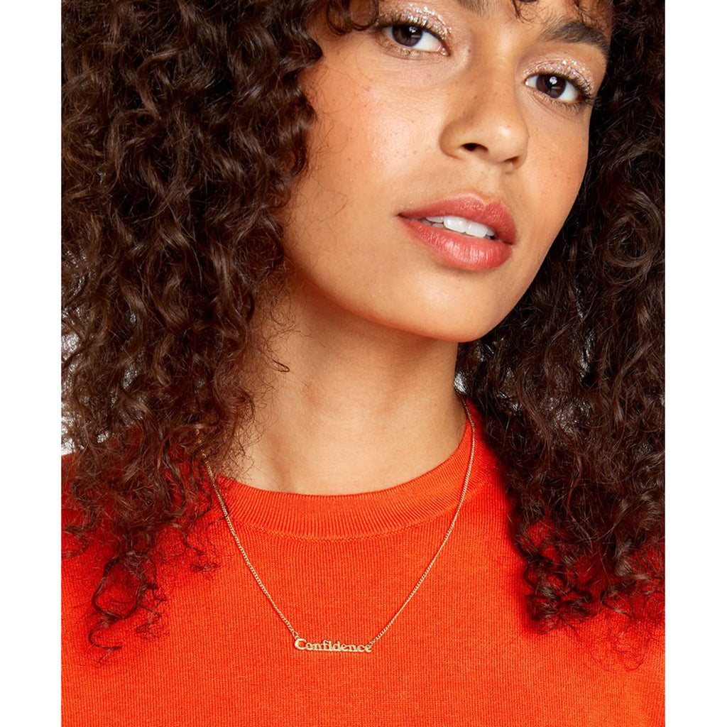 bando good intentions jewelry collection confidence necklace on model