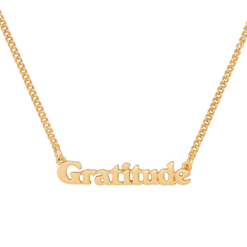 bando good intentions jewelry collection gratitude necklace detail