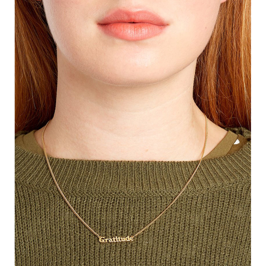 bando good intentions jewelry collection gratitude necklace on model