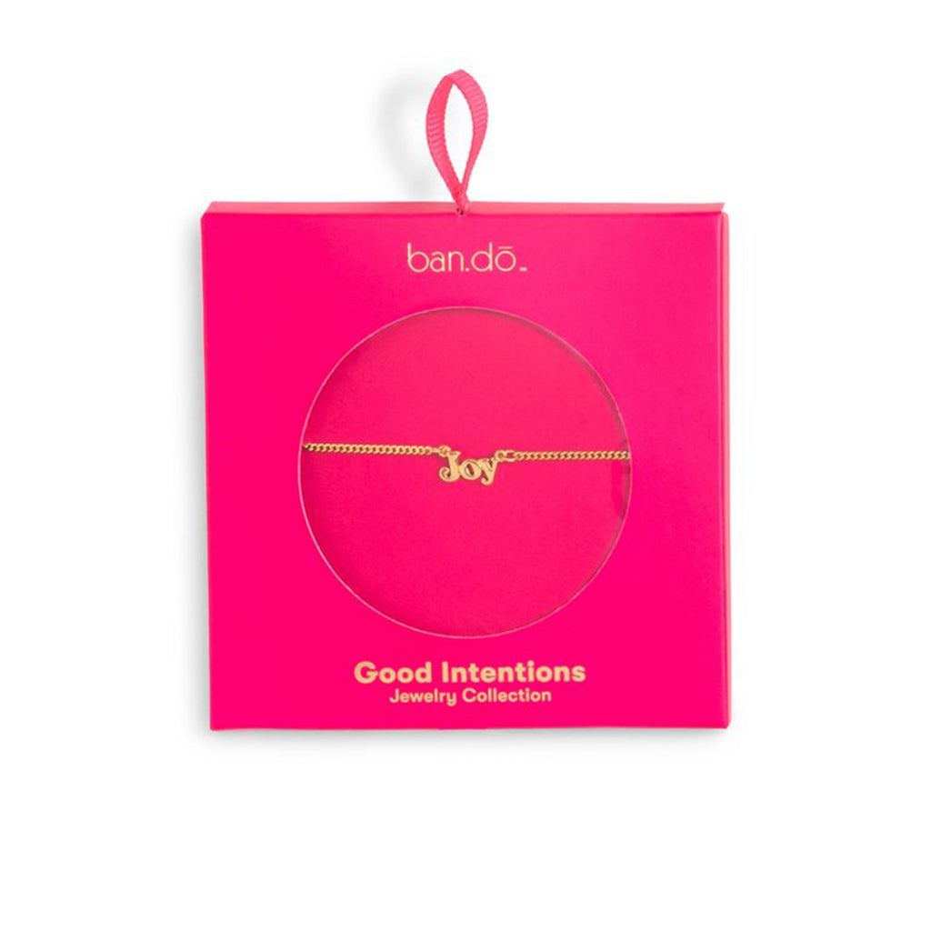 bando good intentions jewelry collection joy necklace in fuchsia box